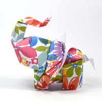 Elephant in the room No1 3D free style origami by JinniInTheLamp