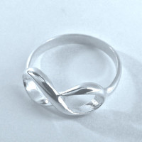 Engravable Infinity Ring sterling silver LOVE Sale. - FREE ENGRAVING