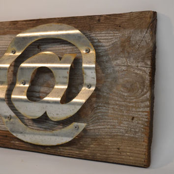 Sign Reclaimed Barn Wood Sign At Sign Wall Decor Rustic Decor Repurposed Handmade Sign Corrugated Steel Beach Decor Cottage Chic Decor
