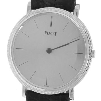 Vintage Piaget Ultra Thin 18K White Gold Manual 31mm Watch 9021 Men's Women's
