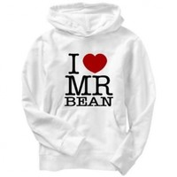 I Love Mr Bean Mens Hoodie:Amazon:Clothing