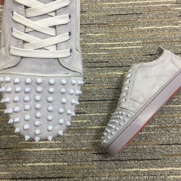 Christian Louboutin Cl Louis Junior Spikes Sneakers Reference 102