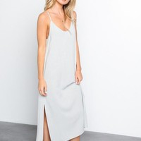 Side Slit Maxi Slip Dress