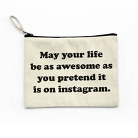 Instagram Life Canvas Pouch