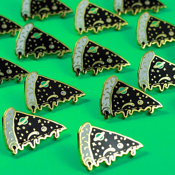 IN STOCK - Black/Gold Edition Galaxy Pizza Pin