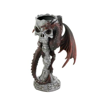 RED DRAGON CANDLEHOLDER