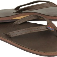 Women's Thin Strap Classic Leather Single Layer Arch Sandal in Mocha by Rainbow Sandals
