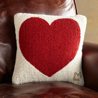 HAVE A HEART HOOKED PILLOW         -                  Pillows & Throws         -                  Decor         -                  Furniture & Decor                       | Robert Redford's Sundance Catalog