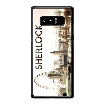 Sherlock Holmes Wallpaper Samsung Galaxy Note 8 Case