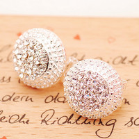 A 082611 aaa Women's Diamond Earrings Cute Earrings Small Jewelry