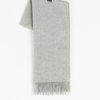 Large Size Wool Scarf, Grey