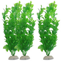 3-Piece fish tank aquarium plants aquarium Decoration 10.6-Inch, Green