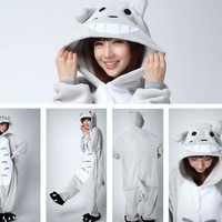My Neighbor Totoro Unisex Adult Animal Nightwear Sleepwear Totoro Cosplay Costume Totoro Onesuit Pajamas