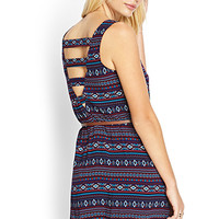 Tribal Print Cage Dress