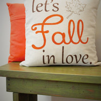 Lets Fall In Love Pillow Cover