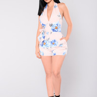 Chosen Right Romper - Blush/Floral