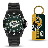 Green Bay Packers NFL Watch and Keychain Gift Set