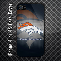 Denver Broncos NFL Team Custom iPhone 4 or 4S Case Cover
