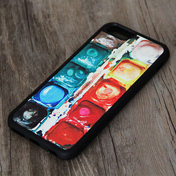 Watercolor Paint iPhone 6/6plus/5S/5/5C Rubber Case,Samsung Galaxy S5/S3/S3/Note 3 Silicone Case