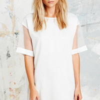 Pippa Lynn Organza Sleeve Box Dress in White - Urban Outfitters