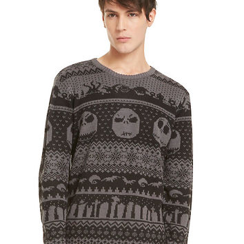 The Nightmare Before Christmas Jack Skellington Intarsia Sweater