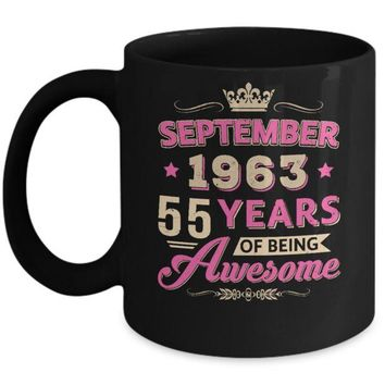 DCKIJ3 September 1963 55Th Birthday Gift Being Awesome Mug