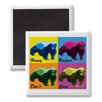 Warhol Style Honey Badger Refrigerator Magnet from Zazzle.com