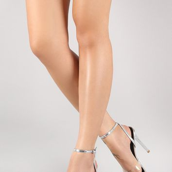 Transparent Crisscross Pointed Open Toe Stiletto Heel