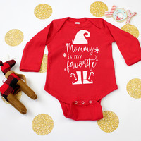 Mommy Is My Favorite Holiday Baby Onesuit
