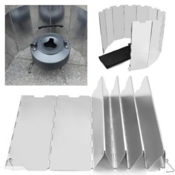 10 plates Fold Camping Cooker Stove Cover Wind Shield