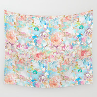 Watercolor Love Wall Tapestry by All Is One