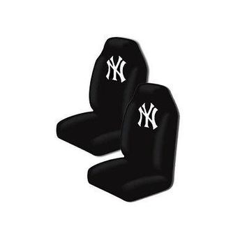 Licensed Official New 2PC Set MLB New York Yankees Car High Back Front Seat Covers