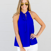 Tie It Up Tank - Royal