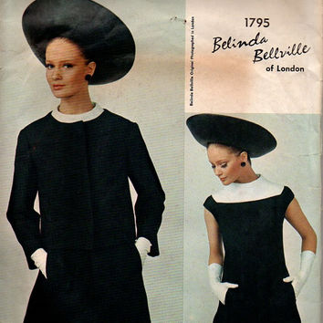 Vogue Couturier Design Sewing Pattern Belinda Bellville High Fashion Mod Dress Fitted Jacket A-line Jackie O Style