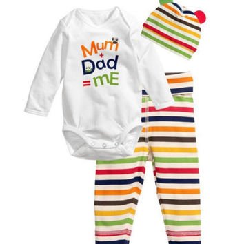 New Fashion Baby Boy Clothing  Infant Newborn Baby Girls