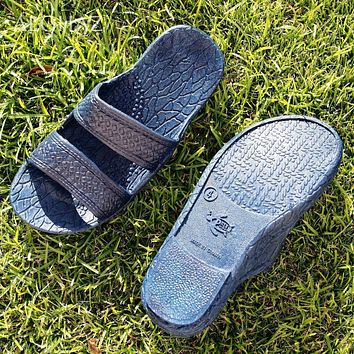kids navy blue classic jandals® -  pali hawaii sandals