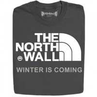 Guys : The North Wall Logo Inspired By Game Of Thrones Funny Design T-Shirts And Hoodies