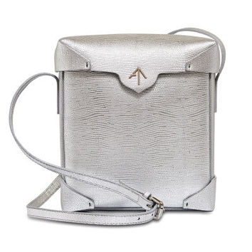 Metallic Calfskin Pristine Cross Body Bag