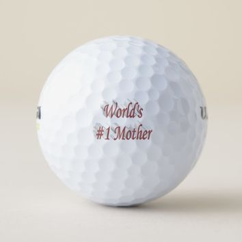 World's #1 Mother 3D Golf Balls, Pink Golf Balls