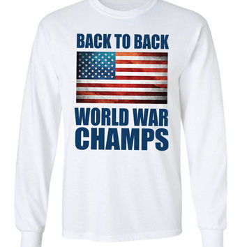 'Back to Back World War Champs' Long Sleeve Tee