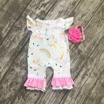 2d5534b861d0 baby kids summer outfits infant toddler baby kids unicorn romper