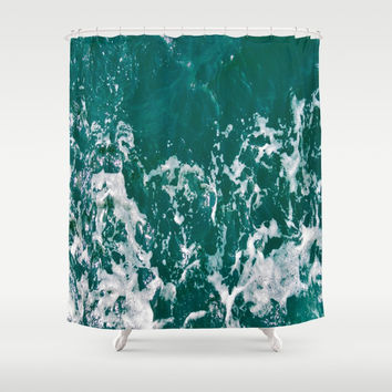 Emerald Waters Shower Curtain by ARTbyJWP
