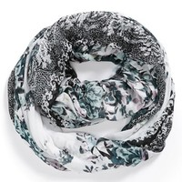 BP. Lace Trim Floral Print Infinity Scarf (Juniors) | Nordstrom