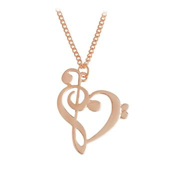 Simple Fashion Hollow Heart Shaped Pendant Necklace for women