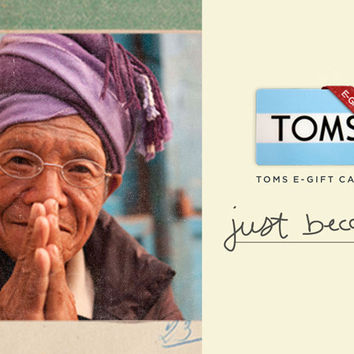 TOMS 50 eGift Card