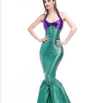 Ariel Mermaid drop shipping The Little Mermaid  Princess Dress party role-playing  Halloween Cosplay carnival Costume uniform