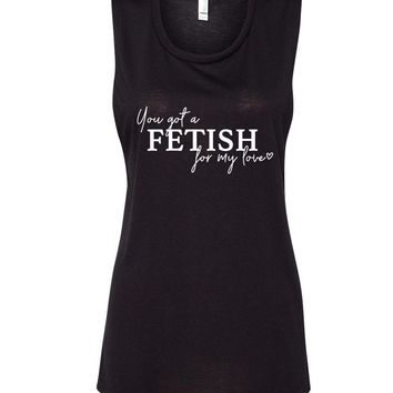 """Selena Gomez """"You've Got a Fetish for My Love"""" Muscle Tee"""