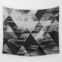 Abstract Sea Wall Tapestry by Cafelab