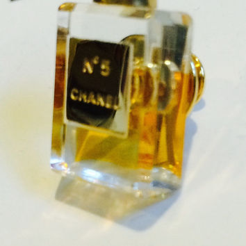 Chanel vintage # 5 Perfume Bottle Brooch