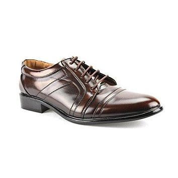 Men's W2015-10 Cap Toe Lace Up Oxford Dress Shoes
